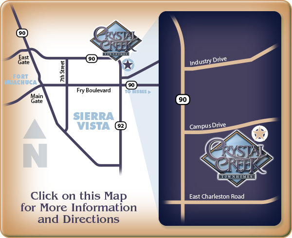 Crystal Creek Map: click map for directions